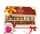 Chocholik Mixture Choco Treats With Teddy and Rose - Belgium Chocolates