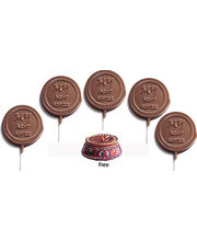 Set Of 5 Lollies - My Best Sister Chocolates Rakhi Gift