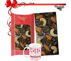 Chocholik Belgian Dark Dry Fruit Bar With Friendship Mug - Belgium Chocolates
