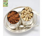 Silver bowls Set with Dryfruits
