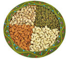 Bikanervala Ethenic Indian Round Dry Fruit Tray (750 gm)