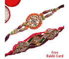 Vibrant Wishes With Two Rakhi