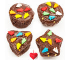 Assorted Shapes Chocolate Cake Bites