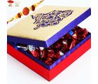Rakhi With Ganesh Gold Chocolate Box