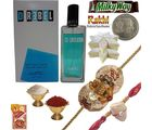 Send REBEL Perfume n Beautiful Rakhi to Brother 160, rakhi hamper with 400g sweets