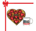 Chocholik's Legend Heart Shape Nicely Wrapped Chocolates With Mug