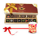 Chocholik Sweet Happiness With Dark And Milk Chocolates With Love Mug - Belgium Chocolates