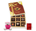 Chocholik Impressive Choco Treat Of Delightful Chocolates With Teddy And Love Card - Luxury Chocolates