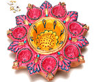 Pink Diya Tray, only diya
