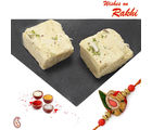 Soan Papdi with Free Rakhi and Tilak, two pound mithai