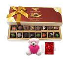 Chocholik Moment Of Love Surprises Of Dark And Milk Chocolates With Teddy And Love Card - Belgium Chocolates