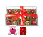 Chocholik Tasty Treat Of Wrapped Chocolates With Teddy And Love Card - Luxury Chocolates