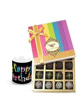 Chocholik Rich Dark Truffle Collection With Birthd...