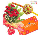 Rakhi Celebration Rose Bunch