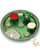 Green Pooja Thali, only thali