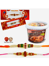 Set Of 2 Rakhis With Chocolate Chips Cookies, Only...