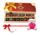 Chocholik Seasonal Chocolates With Dark And Milk Chocolates With Teddy - Belgium Chocolates