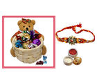 Teddy Basket of Chocolates Rakhi Gift for Brother
