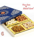 Decorated Box With Hand Picked Dry Fruits