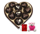 Chocholik Divine Love Selection Of Chocolates With Teddy And Love Card - Belgium Chocolates