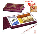 Premium Rakhi Gift Box with Assorted sweets