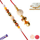 Colorful Stone Rakhi For Bhaiya And Bhabhi, only rakhi