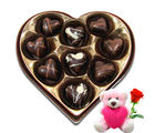 Chocholik Assorted Chocolates Gift Box With Teddy and Rose - Belgium Chocolates