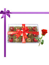 15pc Magical Collection Of Truffles With Red Rose–...