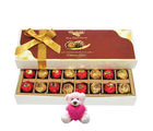Chocholik Cheerful Surprise To Your Friend With Teddy - Luxury Chocolates