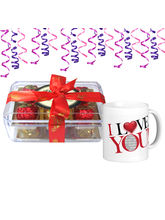 12pc Luxurious Selection of Truffles with Mug– Chocholik Luxury Chocolates