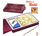 Premium Rakhi Gift Box with Soan papdi