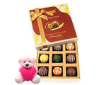 Chocholik Exotic Collection Of Truffles With Teddy - Luxury Chocolates