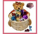 Teddy Basket Return Gift for Sister