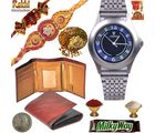 Genuine Wallet n Beautiful Watch Mauli Rakhi Gift 137, rakhi hamper with 400g dryfruit