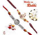 Double Jewelled Rakhi Hamper