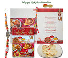 Rakhi Greetings with Cookies - GAI14COOKHAMRAKHIGREET04, only rakhi