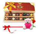 Chocholik Someone Special Chocolates Gift Box With Teddy and Rose - Belgium Chocolates