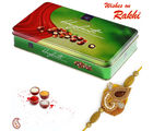 Cute Hazel nuts balls with Rakhi