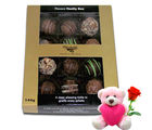 Chocholik Handmade Chocolates Gift Hamper Box With Teddy and Rose - Belgium Chocolates