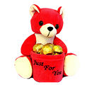 Skylofts Cute Teddy Penstand with 10pcs chocolate