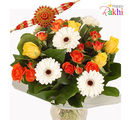 Mixed Bouquet With Rakhi