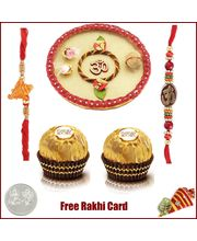 Rakhi Thali with 2 Piece Ferrero Rocher