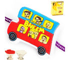 Chota Bheem Bus Rakhi - R14CHOTABHEEMBUS66, rakhi with chocolate gift box