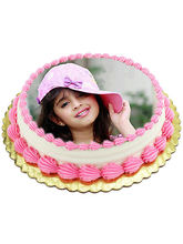 1kg Photo Cake Pineapple