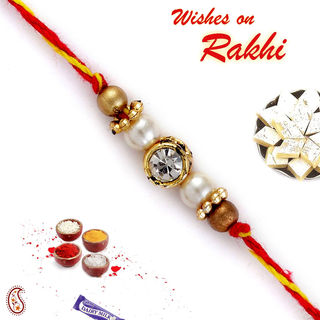 Mauli Thread crystal Rakhi