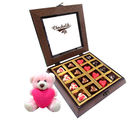 Chocholik Magical Heart Chocolates With Teddy - Belgium Chocolates