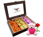 Chocholik Best Creation Of Rocks Collection With Teddy and Rose - Luxury Chocolates