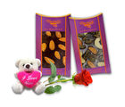Chocholik Belgium Chocolate Gifts - Healthy Combo of Chocolate Bars with a Cute Teddy