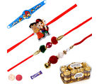 Siddhi Sales 16 Pc Ferrero Rocher With Family Rakhi Set