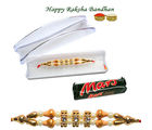 Pearl N Gold Beauty of Rakhi - GAI14LDF3101, only rakhi